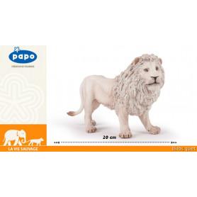 Lion blanc - Grande figurine Papo 20cm