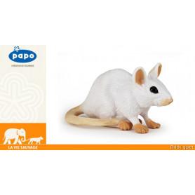 Souris blanche - Figurine jouet