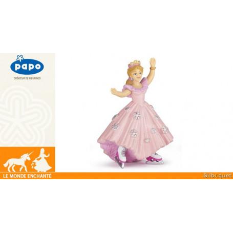 Princesse rose aux patins à glace - Figurine jouet