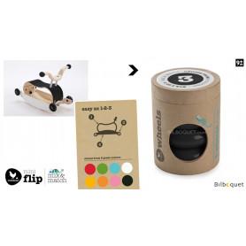 Wishbone Mini-Flip - Set de 4 roues - Noir