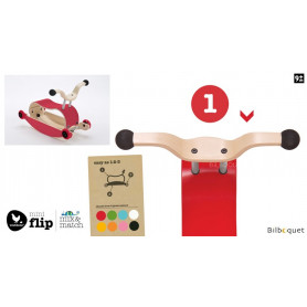 Wishbone Mini-Flip - Top - Rouge