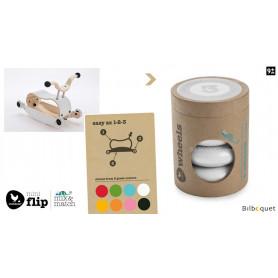 Wishbone Mini-Flip - Set de 4 roues - Blanc