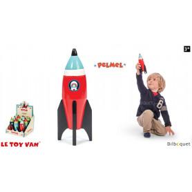 Fusée spatiale - Rouge - Jouet en bois
