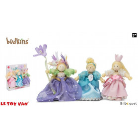 Princesses - Pack de 3 mini poupées Budkins