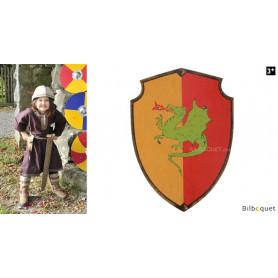 Bouclier royal en bois 36x50cm - Dragon