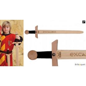 Épée en bois estampée Excalibur 66cm