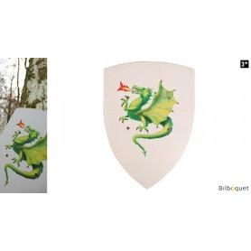Bouclier en bois 27x37cm - Dragon
