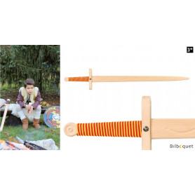 Épée en bois à deux mains avec manche bicolore 102cm