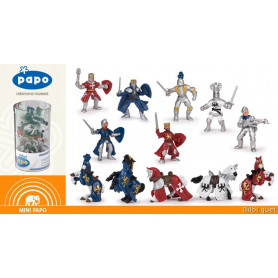 Mini Plus Tub's figurines Chevaliers - 12 mini figurines