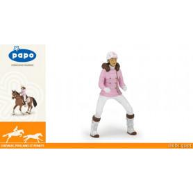Cavalière fashion hiver - Figurine jouet Papo