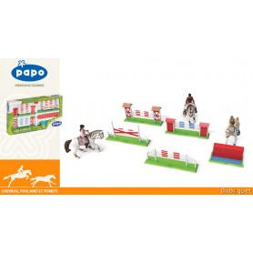 Set de concours de saut d'obstacles pour figurines Papo