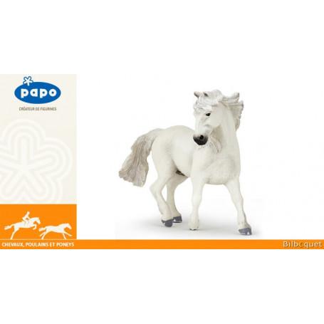Cheval de race Camargue - Figurine en plastique