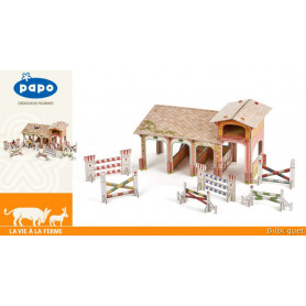 Le Poney Club - Centre équestre pour figurines Papo