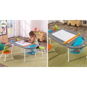Table à dessin avec tabourets - Mobilier pour chambre d'enfant