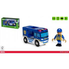 Camion de police avec son et lumière