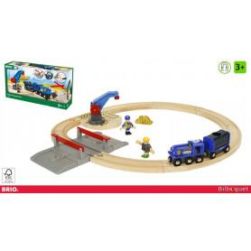 Circuit police 19 pièces - Circuit de train en bois