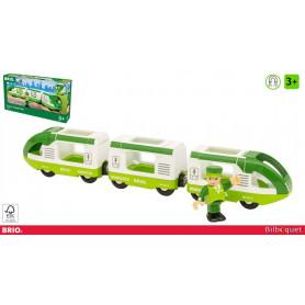 Train de voyageur vert