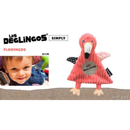 Doudou Flamingos Le flamant rose 23cm - Déglingos Baby