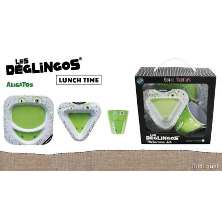 Coffret Mélamine Aligatos l'Alligator - Déglingos Lunch Time