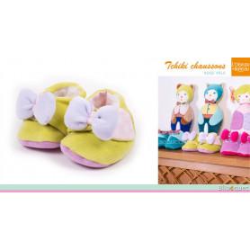 Tchiki Chaussons pour bébé - Rose pâle