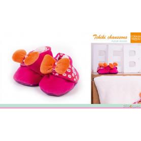 Tchiki Chaussons pour bébé - Fleur rouge
