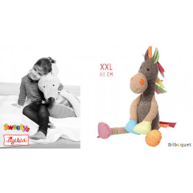 Grande Peluche Cheval 80cm - Patchwork-Sweety