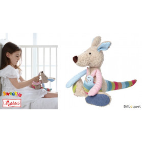 Peluche Kangourou 28cm - Patchwork-Sweety