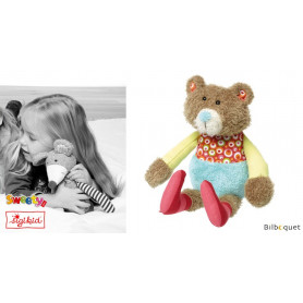 Peluche Ours 31cm - Patchwork-Sweety