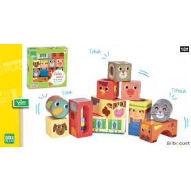 Cubes sonores de la ferme - Jouets en bois