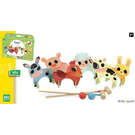 Croquet des animaux de la ferme - Jeu de plein air