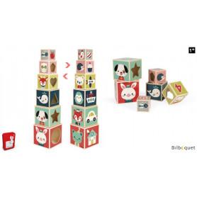 Pyramide 6 cubes Baby Forest - Jouet d'éveil en bois