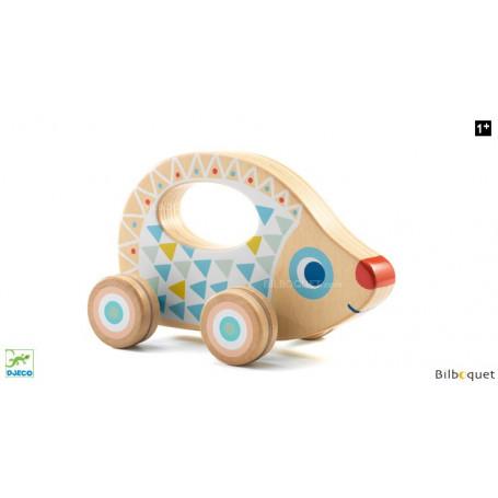 Baby Blanc BabyRouli - Jouet en bois à roulettes
