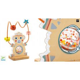 Boulier Baby Blanc BabyActivity - Jouet d'éveil en bois