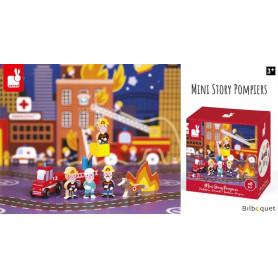 Pompiers - Mini Story - 8 personnages et accessoires