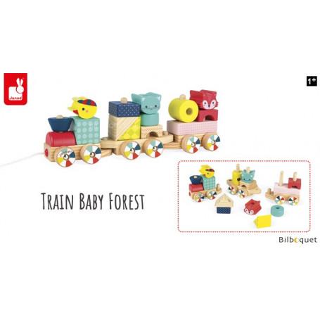 Train en bois Baby Forest - Jouet premier âge