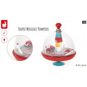 Toupie musicale Pompiers - Jouet d'éveil avec son et lumière
