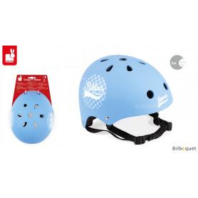 Casque bleu à damiers Bikloon - Taille S
