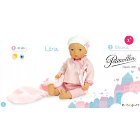 Bibichou Léna dans son petit lit - Poupon 35cm