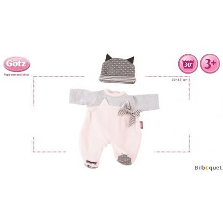Combinaison Cosy Cat - Vêtement pour poupée 30-33cm