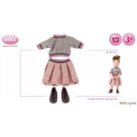 Tenue complète Glamour d'hiver - Vêtement pour poupée 45-50cm