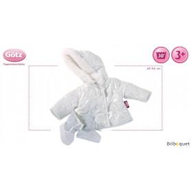 Manteau et bottes d'hiver - Silver - Vêtement pour poupée 45-50cm