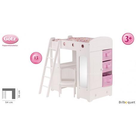 Lit mezzanine pour poupée jusqu'à 50cm