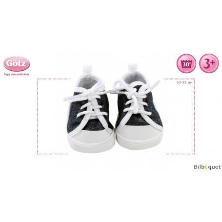 Chaussures denim - Vêtements et accessoires pour poupée 30-33cm
