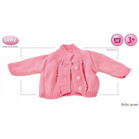 Gilet rose Lollipop - Vêtements et accessoires pour poupées 42 à 50cm