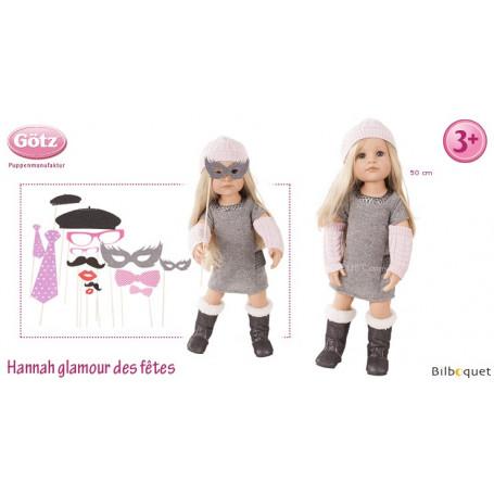 Hannah Glamour des fêtes - Poupée articulée Götz en série limitée - 50cm