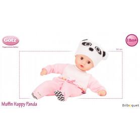 Muffin Happy Panda 33cm - sans cheveux - Poupée Götz Corps souple