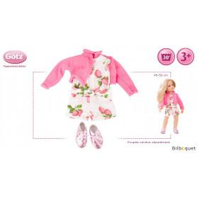 Tenue complète Combishort Fraise - Vêtement pour poupée 45-50cm