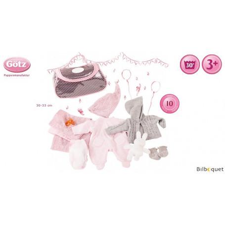 Ensemble complet pour bébé - Vêtements et accessoires pour poupée 30-33cm