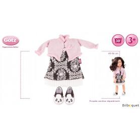 Tenue complète Combo Panda Style - Vêtement pour poupée 45-50cm
