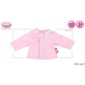 Blouse rose petits coeurs - Vêtement pour poupée 30-33cm
